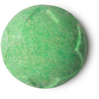 A green bath bomb Lord of Misrule