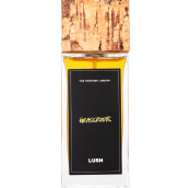 glass bottle of grassroots perfume with cork top
