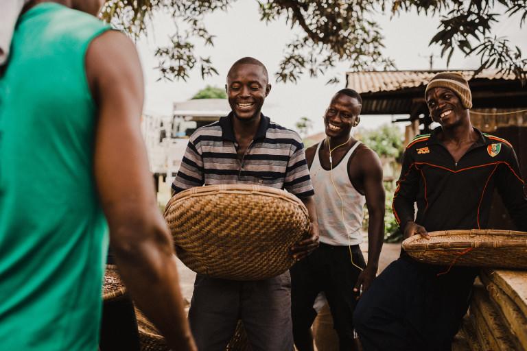 Cocoa butter farmers in Sierra Leone
