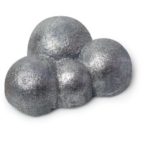 A silver bubble bar