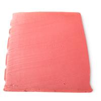 ein stück der rosa-roten lotus flower seife