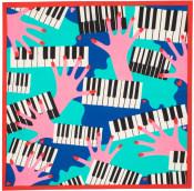 Knot Wrap di San Valentino The player con disegno di pianisti