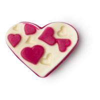 Polyamorous koupelový olej ve tvaru srdce