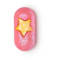 Sapone di Natale pressato a freddo Snow Fairy di colore rosa con stella gialla