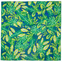 a jungle print knot wrap