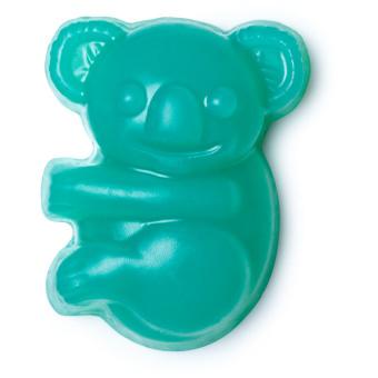 a blue shaped koala soap