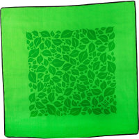 green leaf themed knot wrap