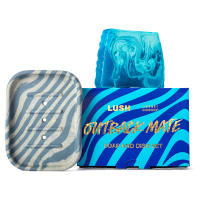 blue sea themed soap and dish gift set
