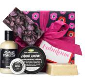 regalo fabulous envoltorio de color rosa con 5 productos de lush