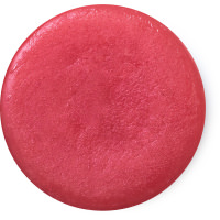 circular solid red perfume