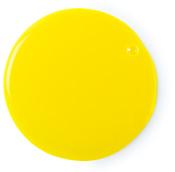 A yellow shower gel splotch