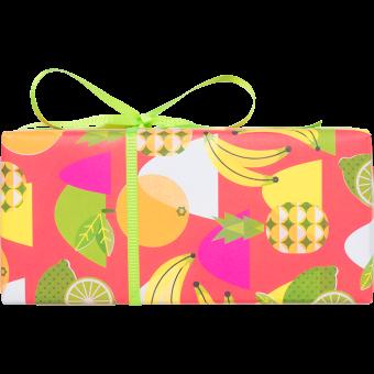 Die Seitenansicht des Bella Fruta Geschenkes