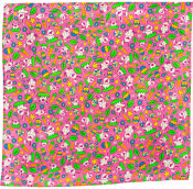 pink easter themed knot wrap with eggs and rabbits on it