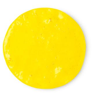gel de ducha de color amarillo neón