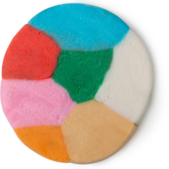 Eine Mischung verschiedener, festlicher Fun Farben