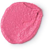 Mamma mia é um esfoliante corporal cor de rosa de toranja rosa e sal para uma pele saudável