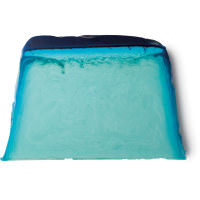 Pezzo di sapone fatto a mano a strati azzurri e blu
