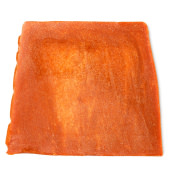 orange seife mit goldfarbenem glitzer
