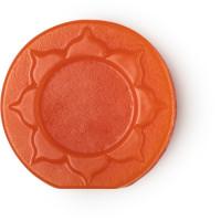 orange round soap with pattern