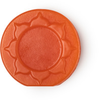 orange round soap with pattern