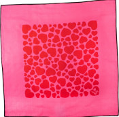 pink and red love heart patterned knot wrap