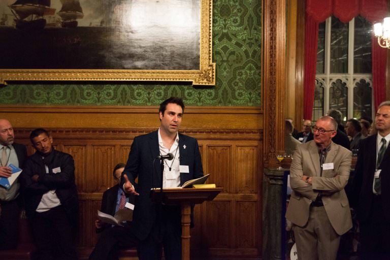 Simon Constantine speaking at House of Lords