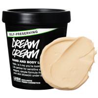 el bote negro y la textura de la crema corporal con leche de avena y autoconservante Dream Cream