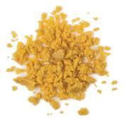 Let The Good Times Roll é um dos cleansers de rosto e corpo da Lush de cor amarela  e fragrancia de pipoca