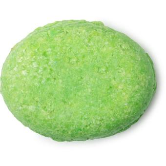 green coloured pressed conditioner