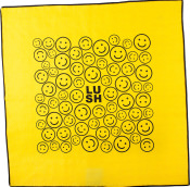 yellow happy face themed knot wrap