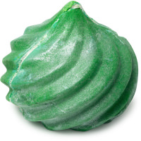 grünes smaragdförmiges schaumbad