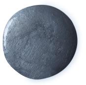 A round black shower gel splotch