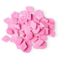 pink diamond shaped mouthwash tabs