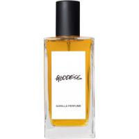 Fyrkantig parfymflaska som heter Goddess
