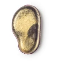Tiefviolette Seife mit goldenem Glitzer an der Oberseite