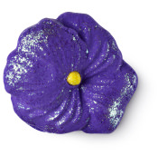 purple flower themed bubble bar