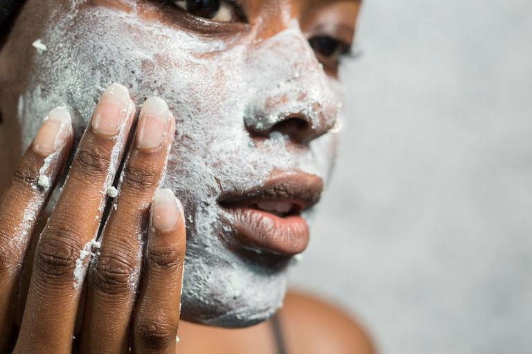 Máscara de rosto, tratamento de rosto