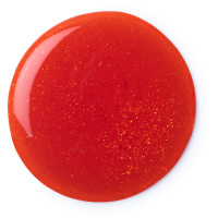A red blob of Hot Toddy shower gel