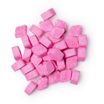 zing enjuage bucal en pastillas de color rosa