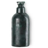 Dunkelgrüne Oregano Seife in Form einer Flüssigseifenflasche