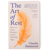 book cover with feather illustration