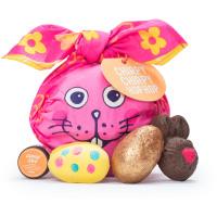 Chirpy Chirpy Hop Hop | Confezione regalo a forma di Coniglio in edizione limitata di Pasqua | Contiene prodotti per il bagno e la doccia avvolti in un knot wrap di cotone