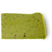 Pezzo di sapone fatto a mano di colore verde