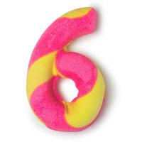 Birthday Number Six - Spumante da bagno speziato a forma di numero 6