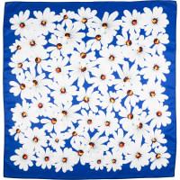 dark blue daisy themed knot wrap