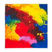 Buntes Tuch in knalligem Rot, Gelb, Blau mit Grün und Rosa
