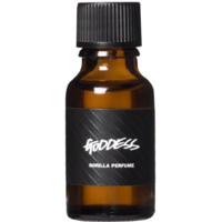 Ein kleines, dunkles Glasfläschen befüllt mit Goddess Perfume Oil