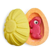 Bombe de bain en forme d'oeuf - Oeuf de pâques surprise