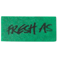 a green fresh as washcard