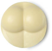 circular facial cleanser with a bum shape on it